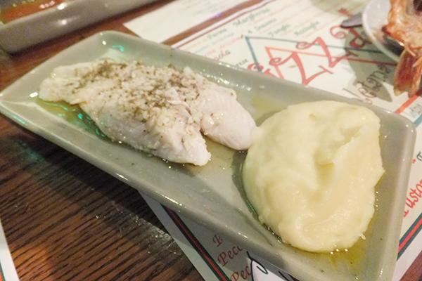 白身魚とマッシュポテト