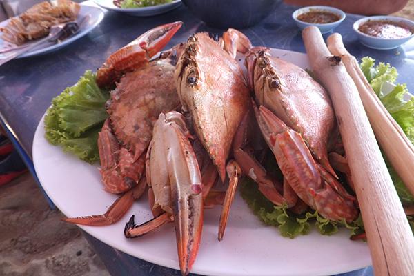 渡り蟹はあまり食べるところがありませんでした。