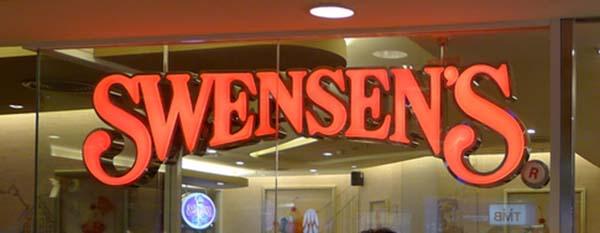 ショップングモールで良く見かけたスゥエンセンズのロゴ