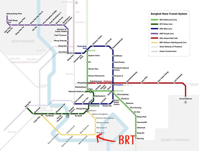黄色のラインがBRT 画像:wikiより