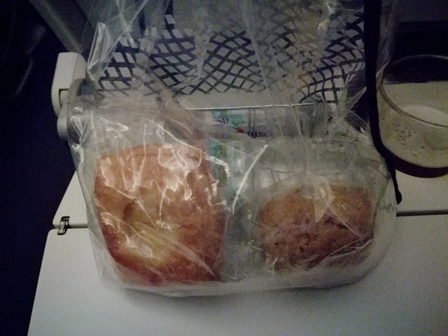 画像は帰り便ですが、同じ様は袋が渡されました。
